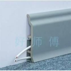 China Wood Skirting Board Wood Plastic Composite Baseboard Profile on sale