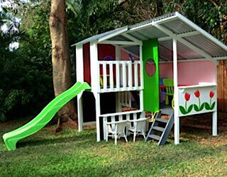 Cubby House Kits | Kids Wooden Cubby Houses | My Cubby - MyCubby...something like this for Christmas 2016