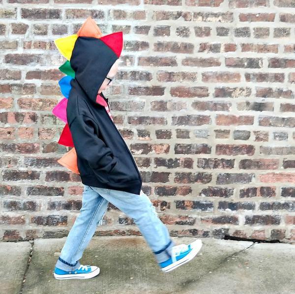 Toddler Kids Dinosaur Hoodie  Toddler Black Hooded Sweatshirt  Toddler Halloween Shirts  Toddler Boy Halloween Costume  Dinosaur