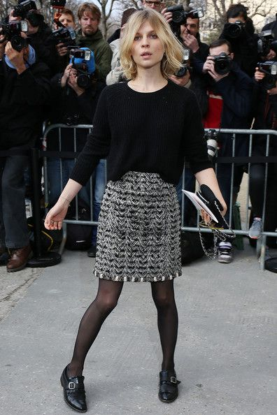 Clemence Poesy Photos: Chanel : Outside Arrivals  - Paris Fashion Week Womenswear Fall/Winter 2014-2015