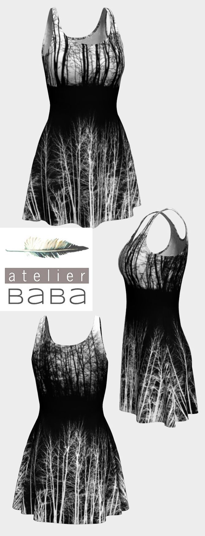 Midnight Forest Flare Dress by atelierbaba on Art of Where. Lovely.