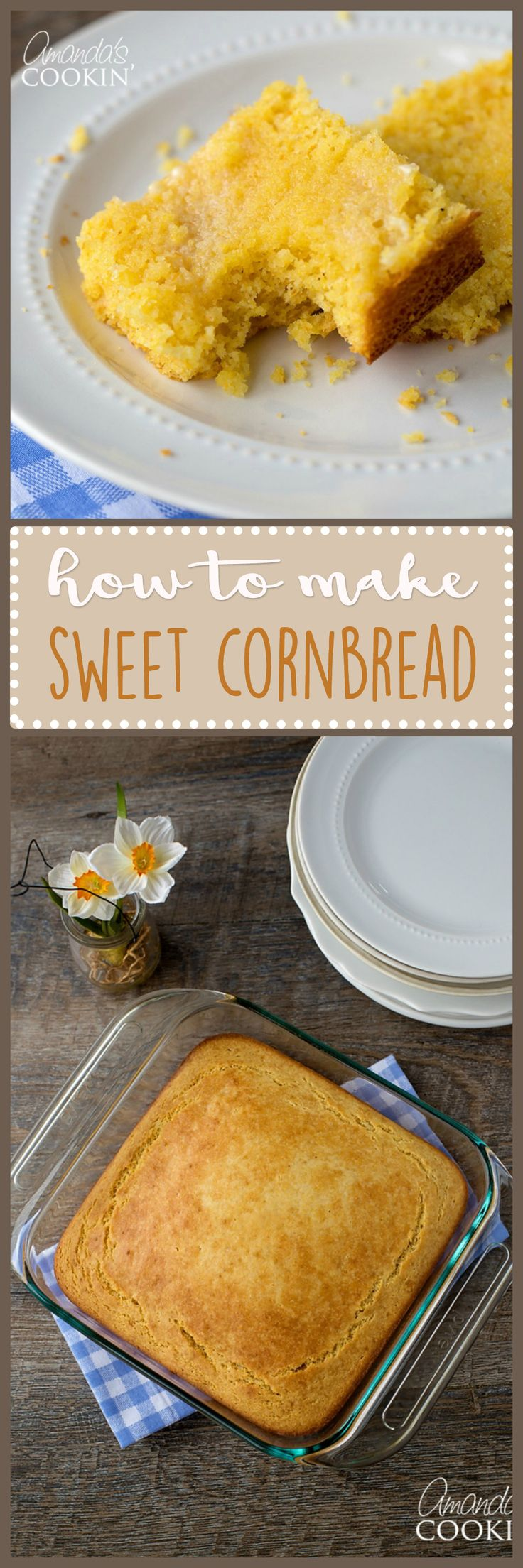 This sweet cornbread pairs great alongside a bowl of Chili Mac or regular Chili. Being everyone's favorite, this sweet cornbread recipe won't disappoint!