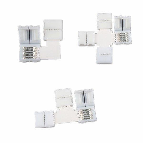 5 Pin Rgbw L T Shape Corner Connector For 12mm Width Led Strip Led Strip Led Shapes