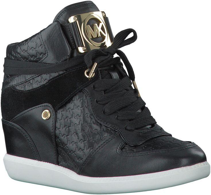 Zwarte Michael Kors Wedge sneakers NIKKO HIGH TOP