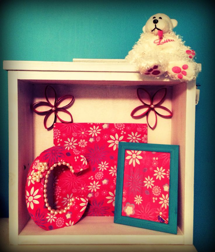 Upcycled drawer with decorated Letter