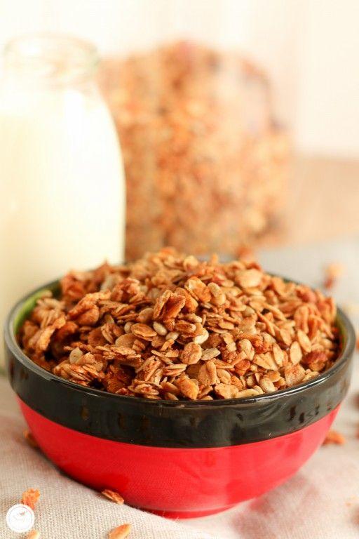 Rezept für Knusper Basis Mandel Müsli / recipe for crunchy almond granola                                                                                                                                                                                 Mehr
