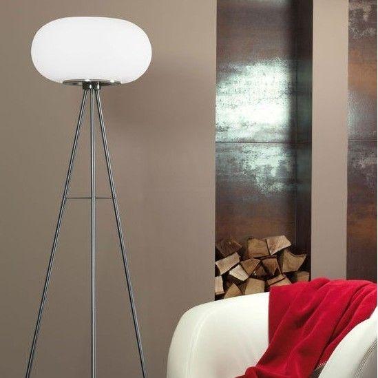 Φωτιστικό δαπέδου (επιδαπέδιο) - λαμπατέρ μονόφωτο, σε μοντέρνο στυλ, με βάση τρίποδο κατασκευασμένο από ατσάλι σε σατινέ νίκελ χρώμα και καπέλο από γυαλί οπάλ λευκό. Optica από την Eglo. ------------------ Floor lamp, in modern style, with tripod base made of steel in satin nickel color and glass hat in opal white color. #opal #floor #floorlamp #floorplan #house #housegoals #housetrends #housedesign #home #homedecorideas #opalglass #eglo #papantoniougr #φωτιστικό #φως
