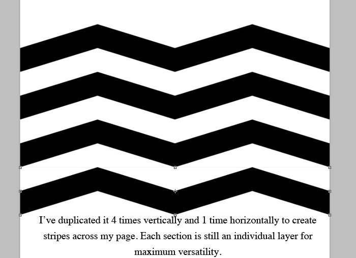 creating your own chevron template in photoshop