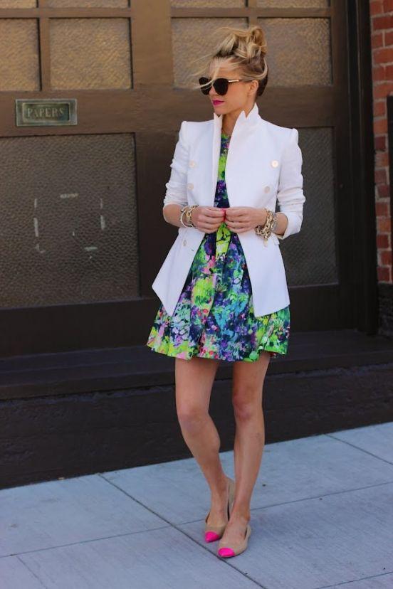 Платье: Zara, Сумка: Coach, Пиджак: Zara, Обувь: Anna Taylor