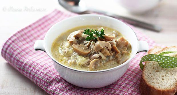 Sup Krim Ayam Jamur