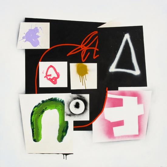 "YOUR DEMON DOPPELGANGER - 2011 - Acrylic & spray paint on canvas - 122cm x 122cm, 48"" x 48""  www.fionaackerman.com"