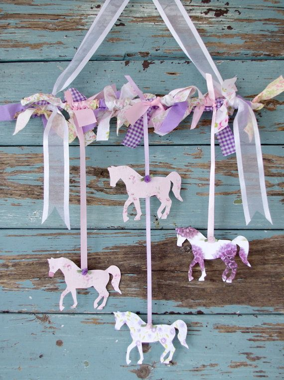 Horse Decorative Mobile Unicorn Party Pony Party Horse Party