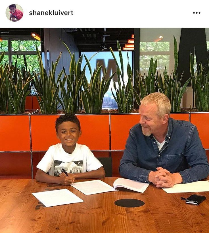 Shane Kluivert the 9-year-old son of Patrick Kluivert has signed a five-year sponsorship deal with Nike.