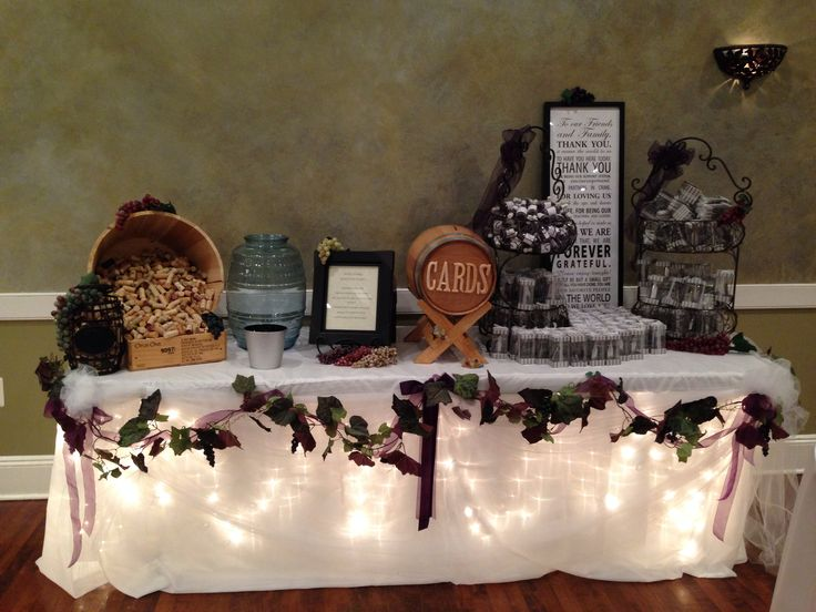 Wine Theme Wedding Gift Table  Wedding Decor  Gift table