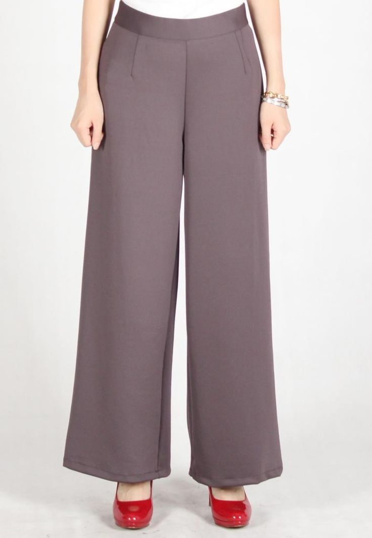 Meitavi's Kulot Zipped Maxi Culottes - Dark Grey