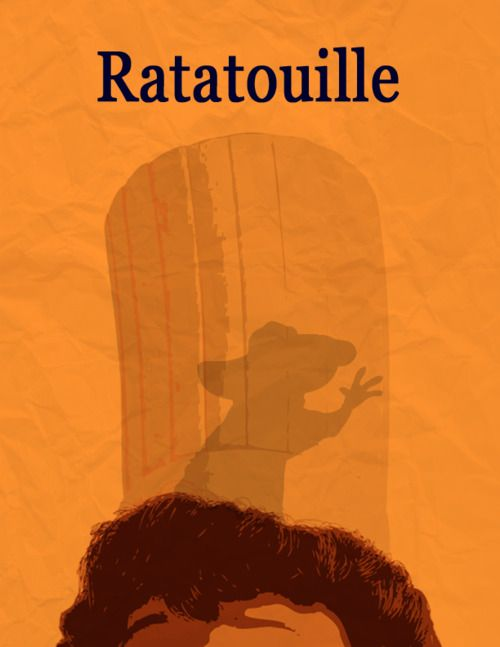 Love this animated film. One of my favorites. Ratatouille Movie Poster, via Minimalist Movie Posters