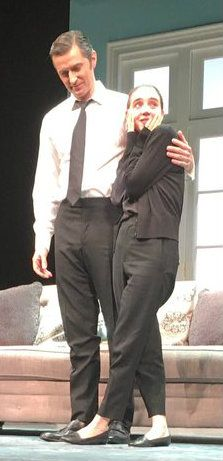 RA and Zoe Kazan on stage for  LLL play in NYC - 2016