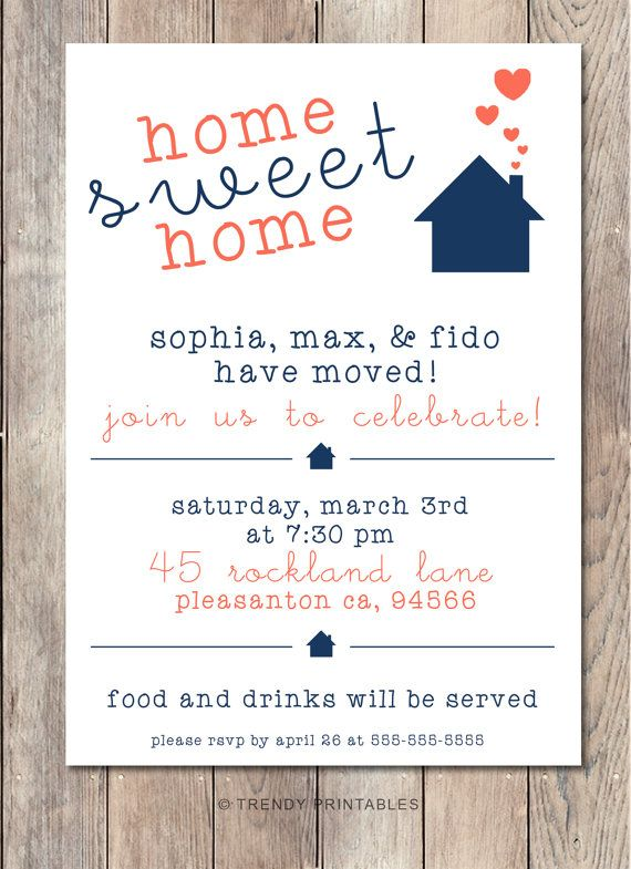 20 best housewarming images on pinterest | house party, Invitation templates