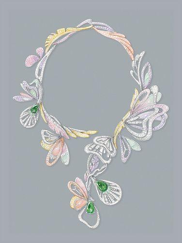 Drawing of Boucheron Bouquet d'ailes