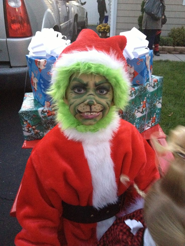grinch costume grinch face paint halloween costume cool halloween costume grinch makeup - Baby Grinch Halloween Costume