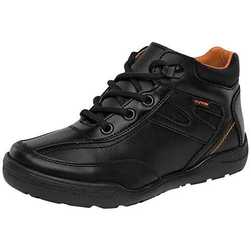 Kickers SV Kick Bajo VL Niños Velcro Zapatos de Piel–Negro, Color Negro, Talla 31 EU