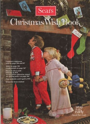 """Sears Wish Book Catalog.  We each marked the items we wanted. I picked one item from each page, I was greedy. It really was a """"Wish Book""""."""