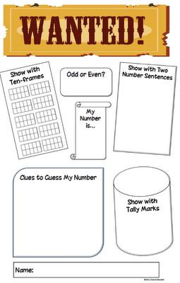 Math Coachs Corner: Wanted! A creative assessment to let your kiddos show all they have learned about numbers to 100.