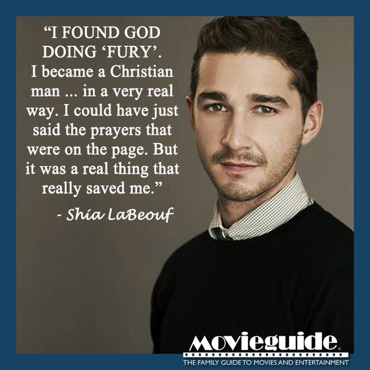 Recently, Shia LaBeouf claims he is a Christian man!