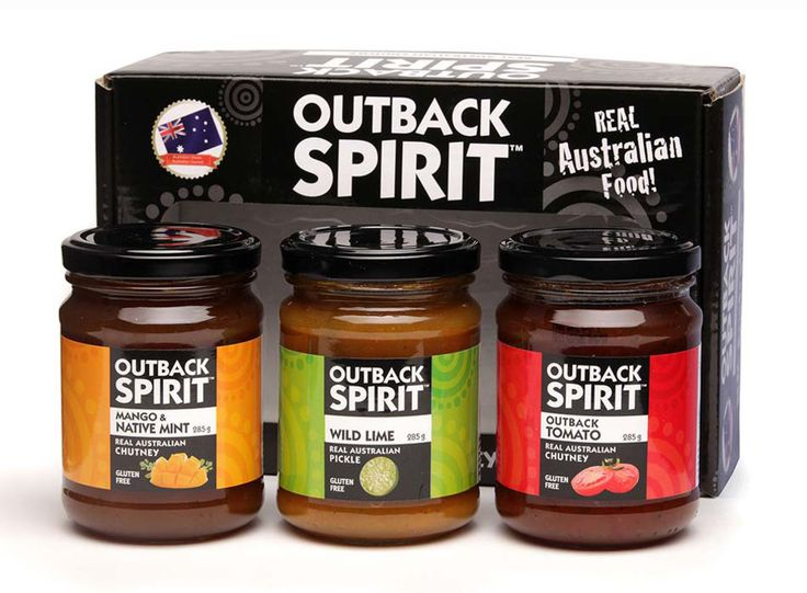Outback Spirit Relish Pack (3)  Wild Lime Pickle (285g) Mango & Native Mint Chutney (285g) Bush Tomato Relish (285g) (BT-REL-OS-REL3) $25