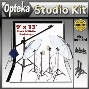 Advanced Portrait Studio Starter's Kit by Opteka Package Includes: Opteka Heavy-Duty Photography Backdrop Supporting System, Opteka 9' X 13' Black and White Muslin Backgrounds, Opteka LBS70 7-foot Boom Stand Boom Set and More (Electronics)  http://skyyvodkaflavors.com/amazonimage.php?p=B004UR2Z2K  B004UR2Z2KSupport System, Portraits Studios, Black And White, Starters Kits, Packaging Include, Opteka Packaging, Backdrops Support, Studios Starters, Photography Backdrops