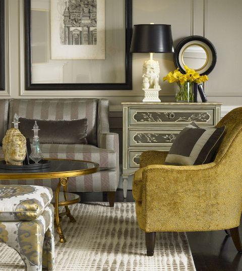 Grey Gold Living Room