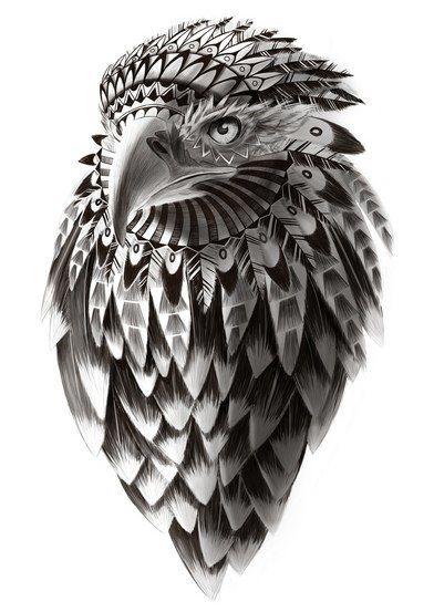 Awesome hawk design. #tattoo #tattoos #ink