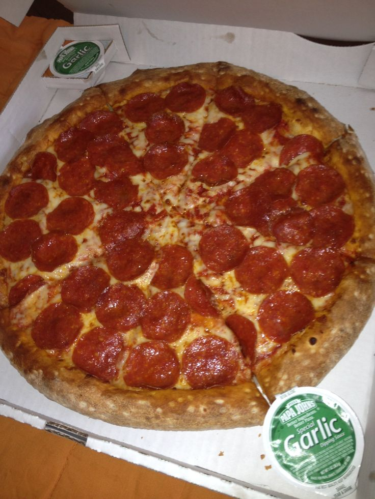 Papa John's Pizza is the best pizza in the world. And my favorite food. Ever.