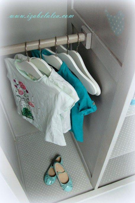 Biała szafa i niezawodne farby kredowe :) - Izabela Lea eS.