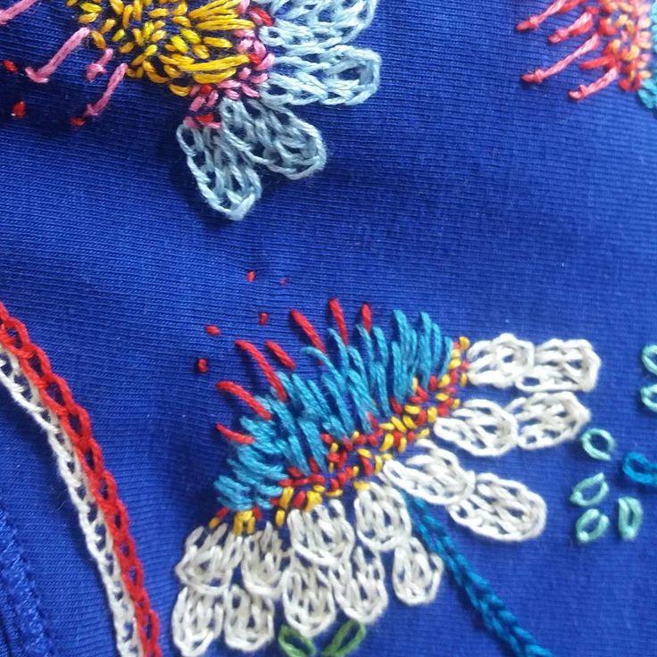 Embroidered flowers | Ansofie Jordaan Art | Paintings & Art Classes