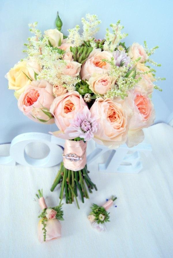 персиковый букет невесты #wedding #bouquets