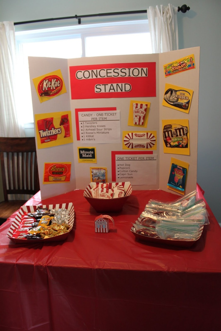 how to make a concession stand for a birthday party