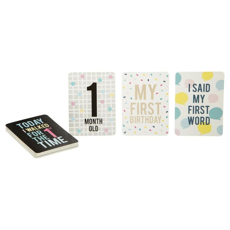 Baby Milestone Cards - Pack of 35   Kmart