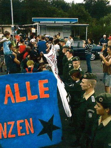 Zittau 1999 Grenze geschlossen von BGS
