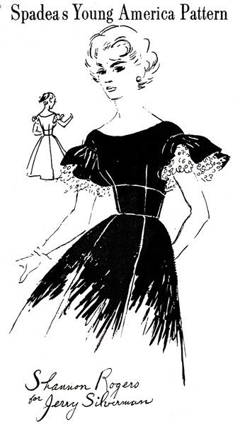 1960s Vintage Sewing Pattern: Spadea Young America Dress Y-3108