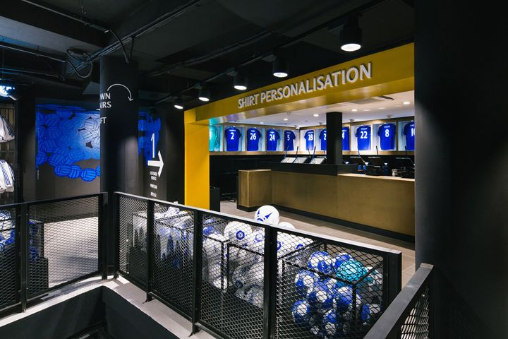 The Chelsea FC Megastore Combines the Team's History with the Future #branding trendhunter.com