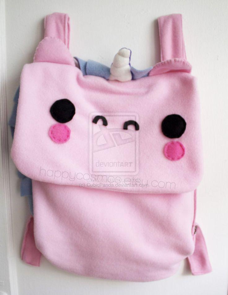Kawaii Pink Unicorn Backpack by CubicPanda.deviantart.com on @deviantART