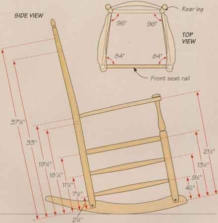 Shaker Rocking Chair Rails