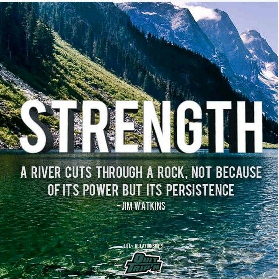 Persistence Motivational Quotes: STRENGTH = PERSISTENCE