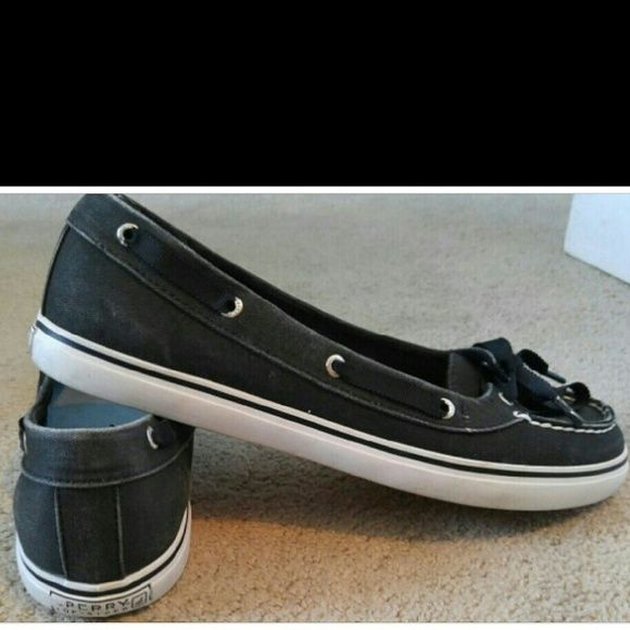 Black Sperry's Black Sperrys in good used condition. Worn a cpl times. Sperry Top-Sider Shoes Flats & Loafers
