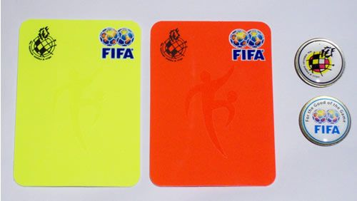 When a player makes a foul they can deserve the yellow card. If you make a very hard foul, you receive the red card and you can´t keep playing. If you receive two yellow  cards its like a red card and you can´t also keep playing.