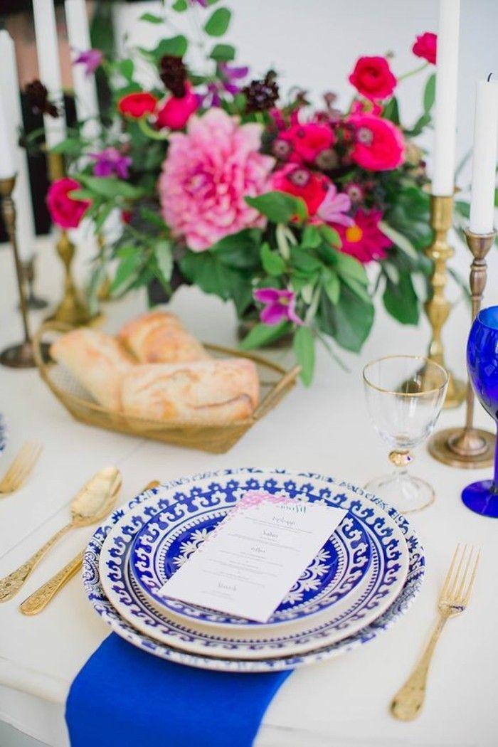 40 Mediterrane Tischdeko Ideen U2013 Exotische Reiseziele Zu Hause! | Tischdeko  | Pinterest | Mediterran, Blaues Geschirr Und Tischdeko