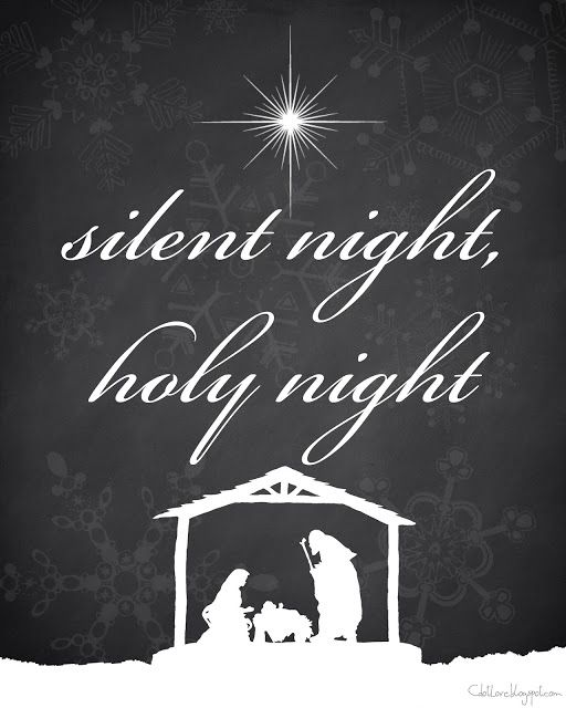 Silent Night FREE Christmas printable 8x10 by CdotLove