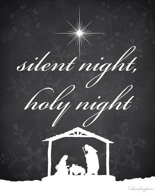 Silent Night FREE Christmas printable 8x10 by CdotLove