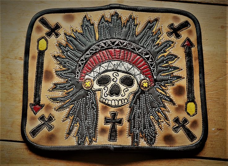 Wallet Indian Chief Warrior